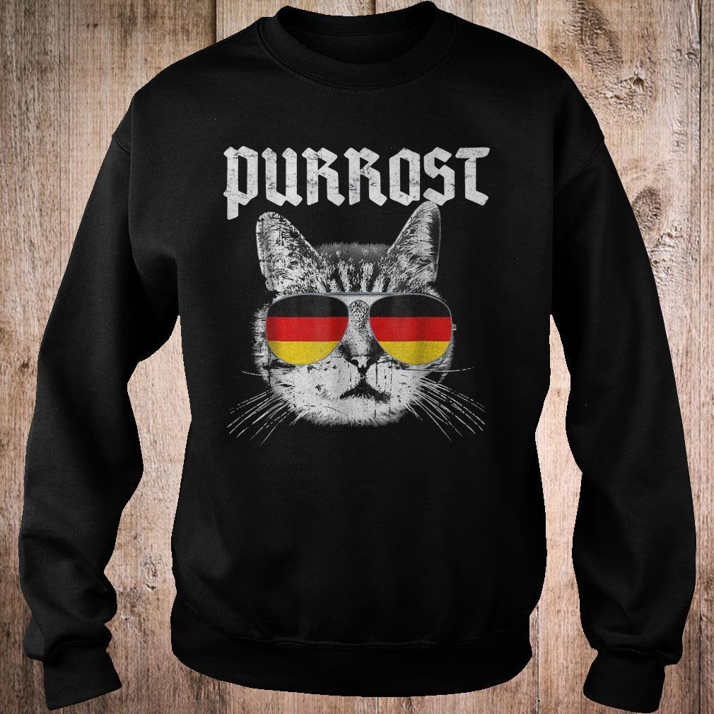 Purrost funny cat prost German flag shirt Sweatshirt Unisex