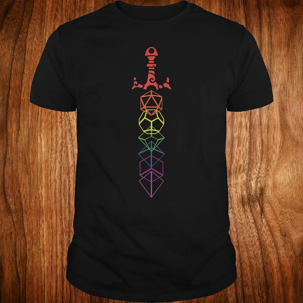 Rainbow dice sword shirt