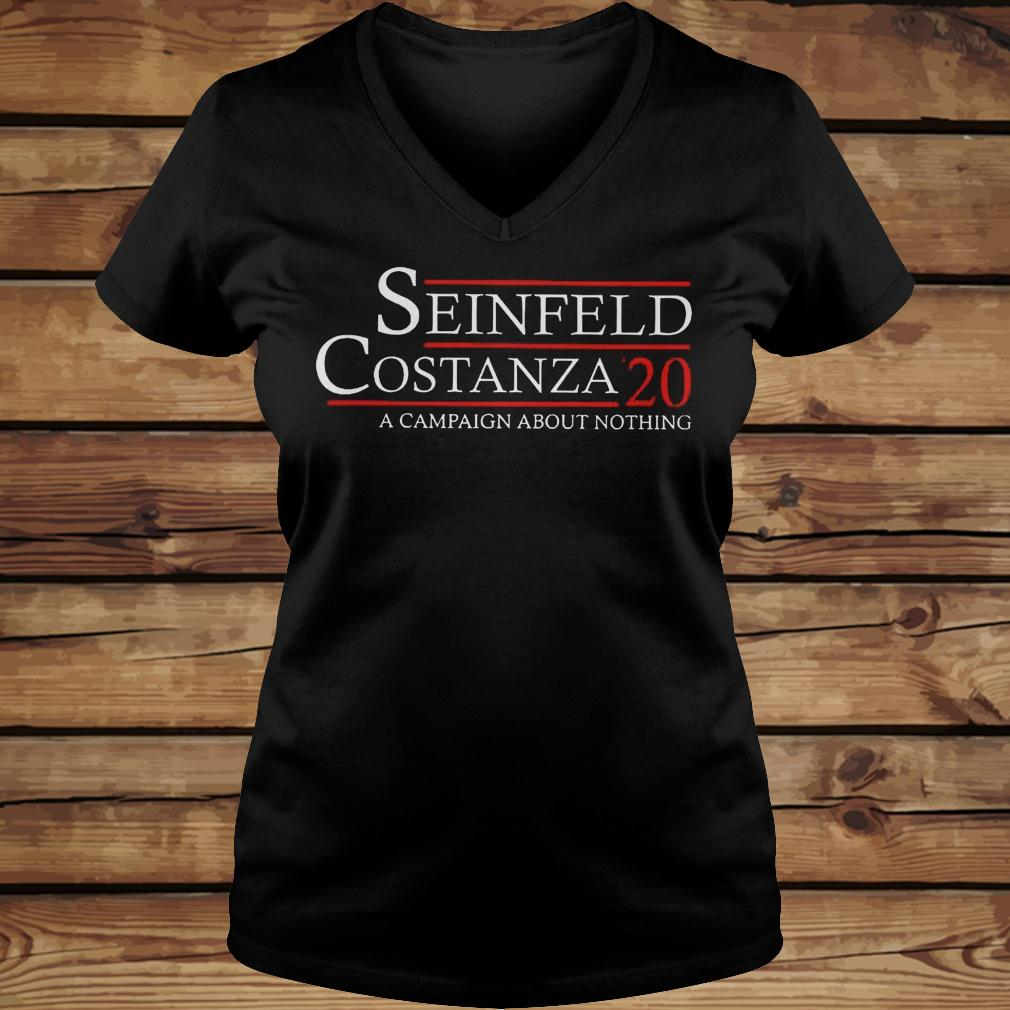 Seinfeld Costanza '20 A Campaign About Nothing shirt Ladies V-Neck