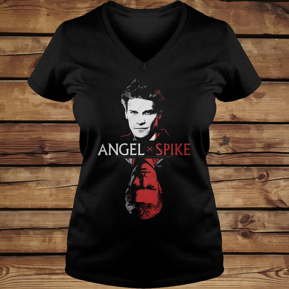 Spike Buffy The Vampire Slayer And Angel shirt Ladies V-Neck