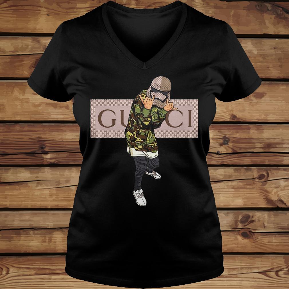 Star Wars Stormtrooper Gucci Mashup shirt Ladies V-Neck
