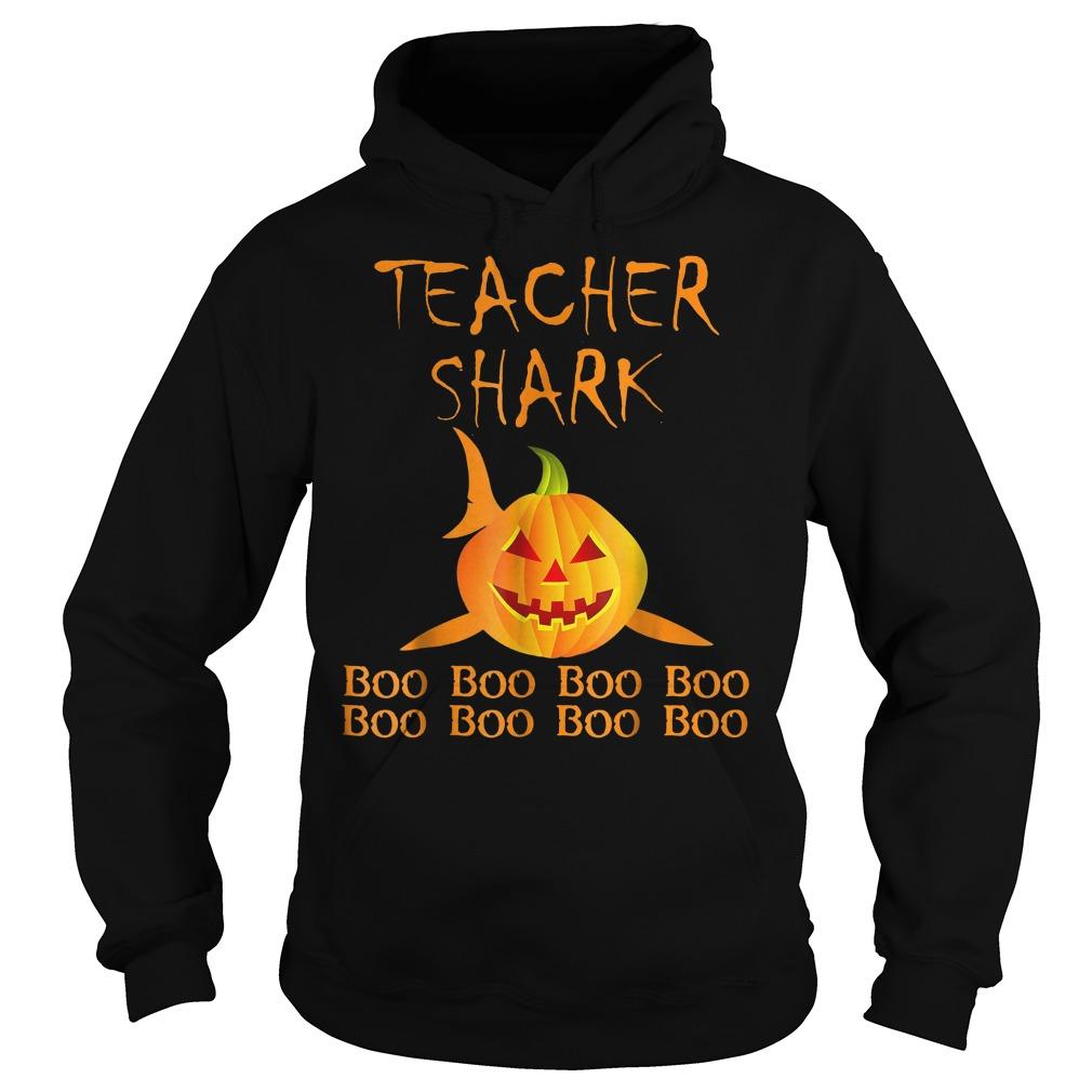 Teacher shark pumpkin halloween shirt Hoodie