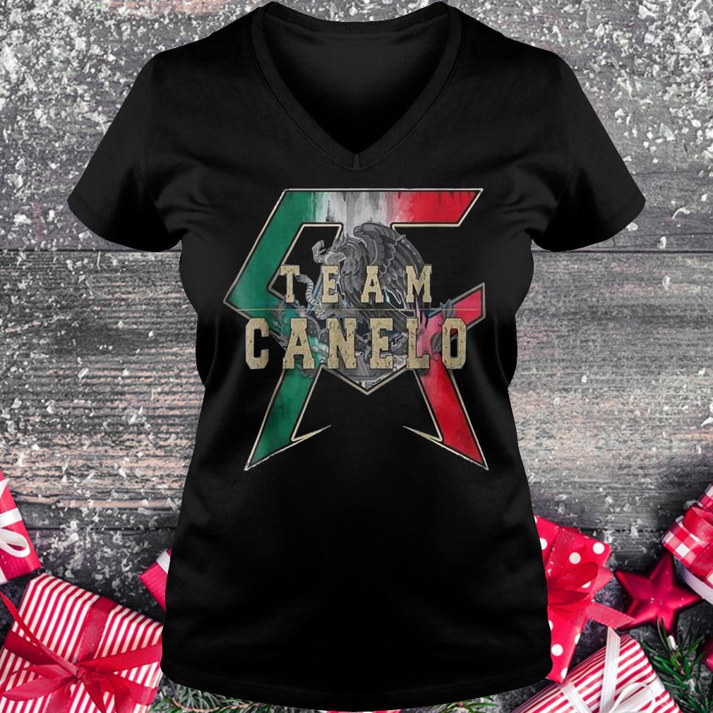 Team Canelo Eagle shirt Ladies V-Neck