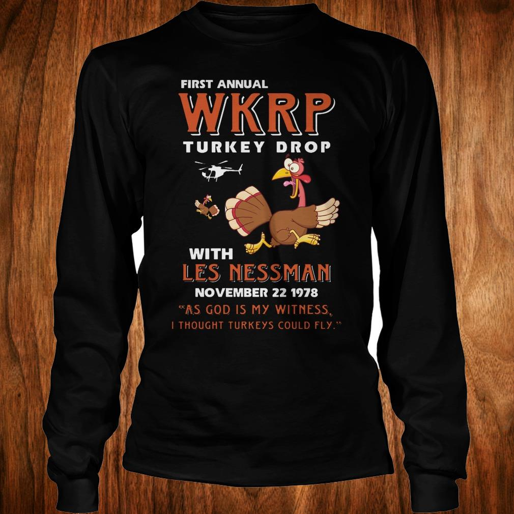 Thankgiving First Annual WKRP Turkey drop with les nessman shirt Longsleeve Tee Unisex