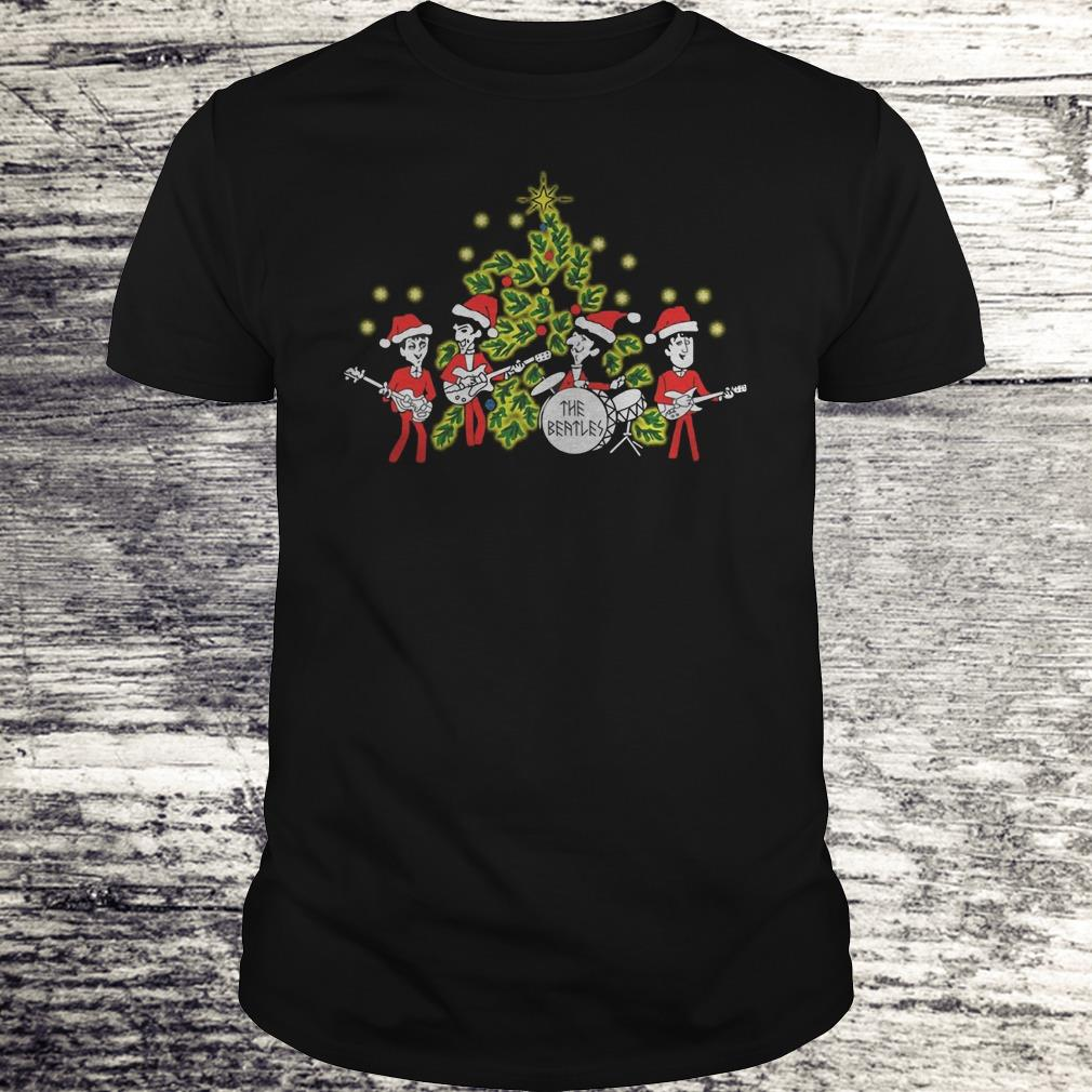 The Beatles singing Christmas tree Shirt Classic Guys / Unisex Tee