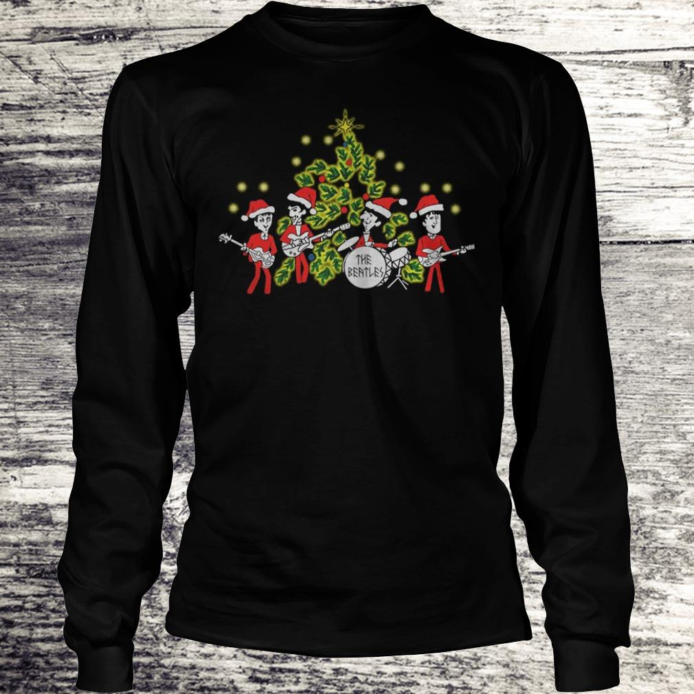 The Beatles singing Christmas tree Shirt Longsleeve Tee Unisex