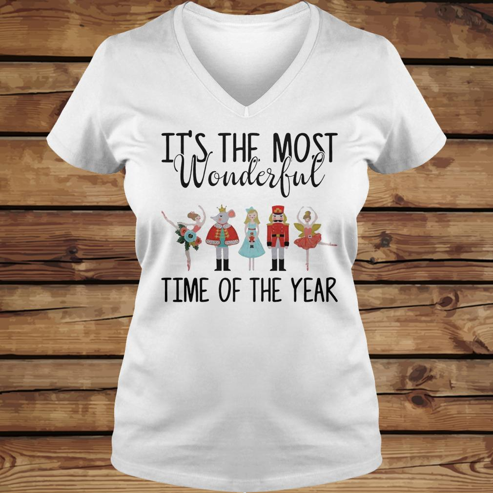 The Nutcracker Ballet It's The Most Wonderful Time Of The Year shirt Ladies V-Neck