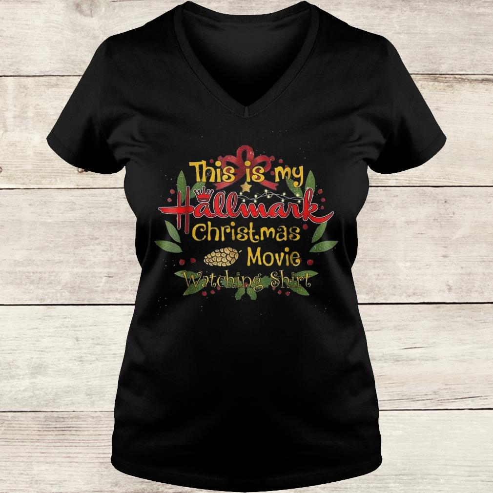 This girl loves Hallmark Christmas movies shirt Ladies V-Neck