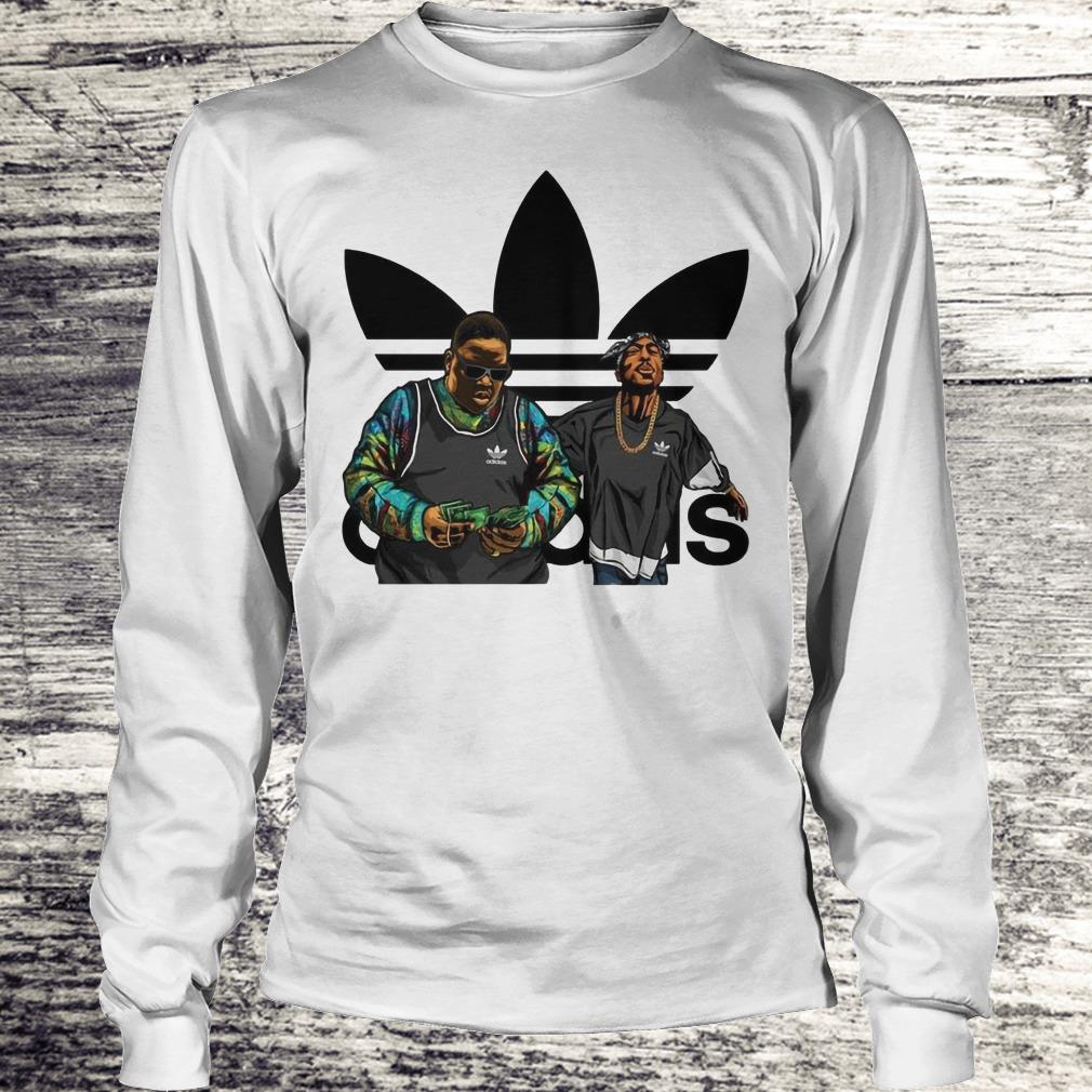 Tupac Shakur And Notorious BIG Adidas Shirt Longsleeve Tee Unisex