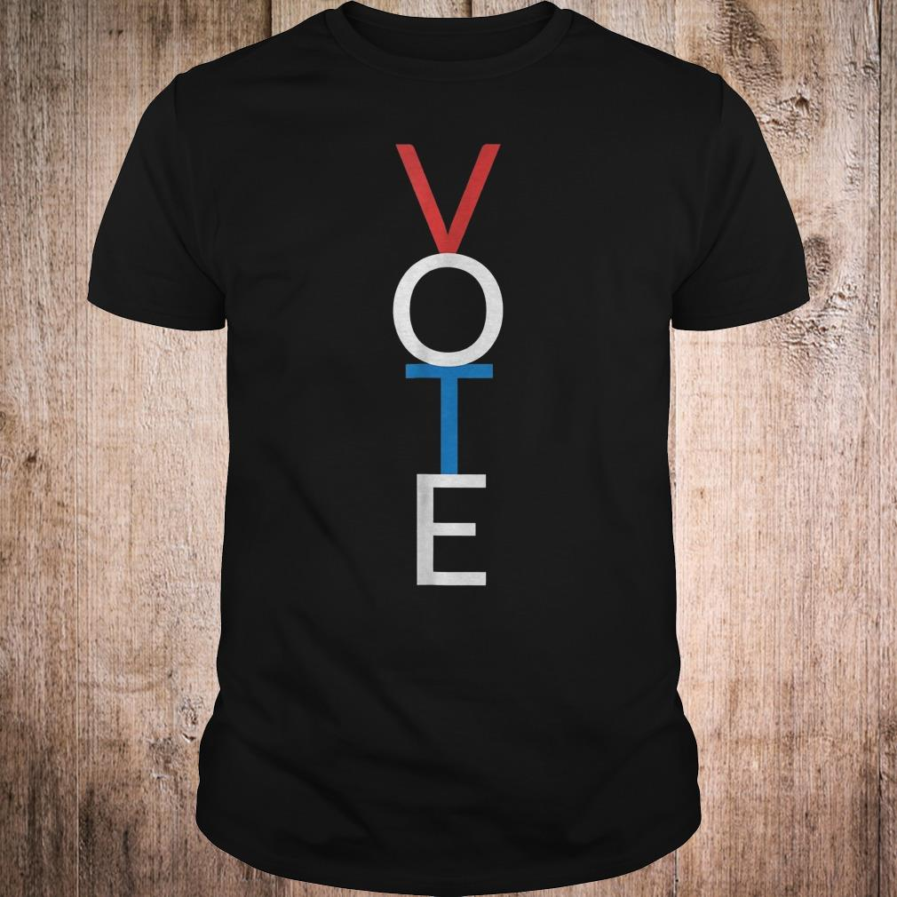 Vote red white blue simple midterm election shirt