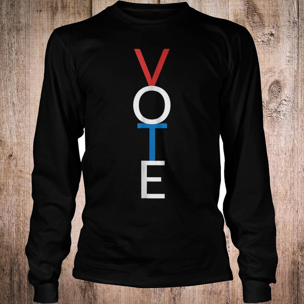 Vote red white blue simple midterm election shirt Longsleeve Tee Unisex