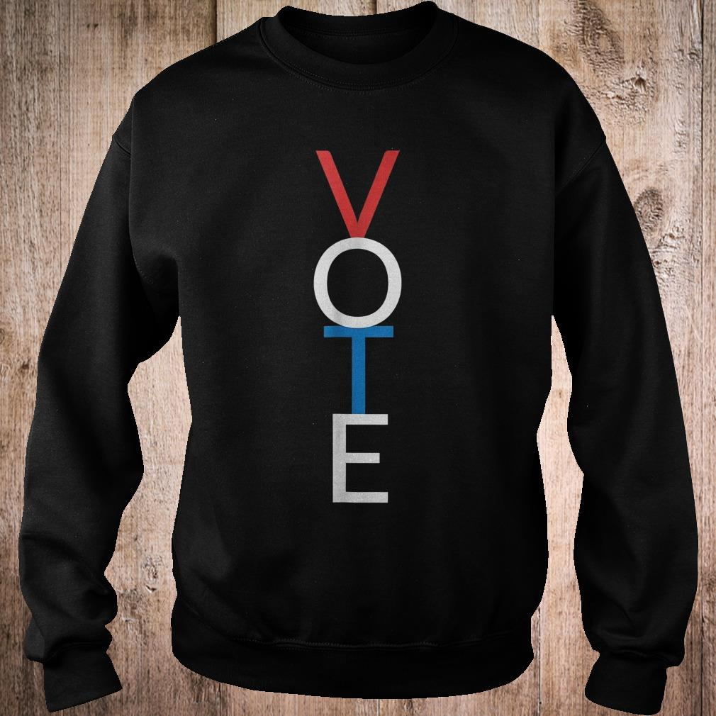 Vote red white blue simple midterm election shirt Sweatshirt Unisex