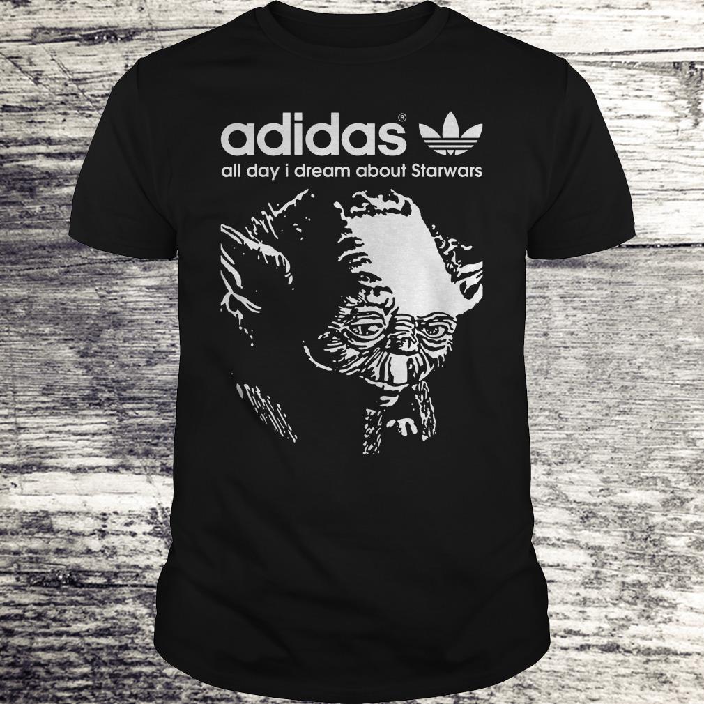 Yoda Adidas All Day I Dream About Star Wars Shirt Classic Guys / Unisex Tee