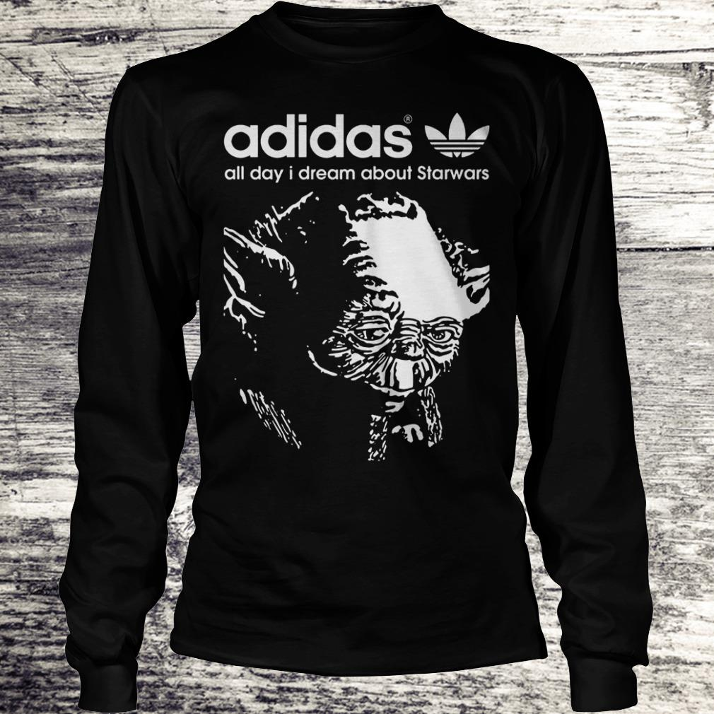 Yoda Adidas All Day I Dream About Star Wars Shirt Longsleeve Tee Unisex
