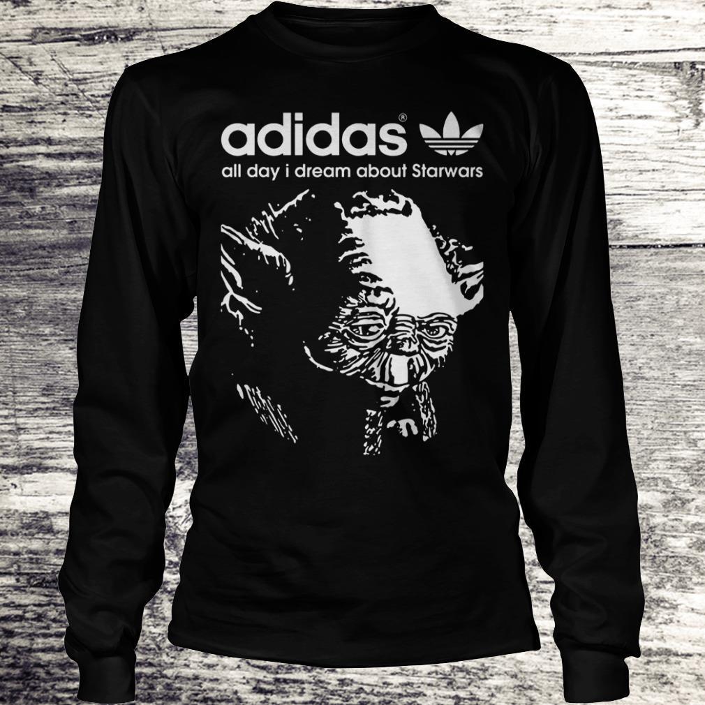 Yoda Adidas All Day I Dream About Star Wars Shirt Longsleeve Tee Unisex