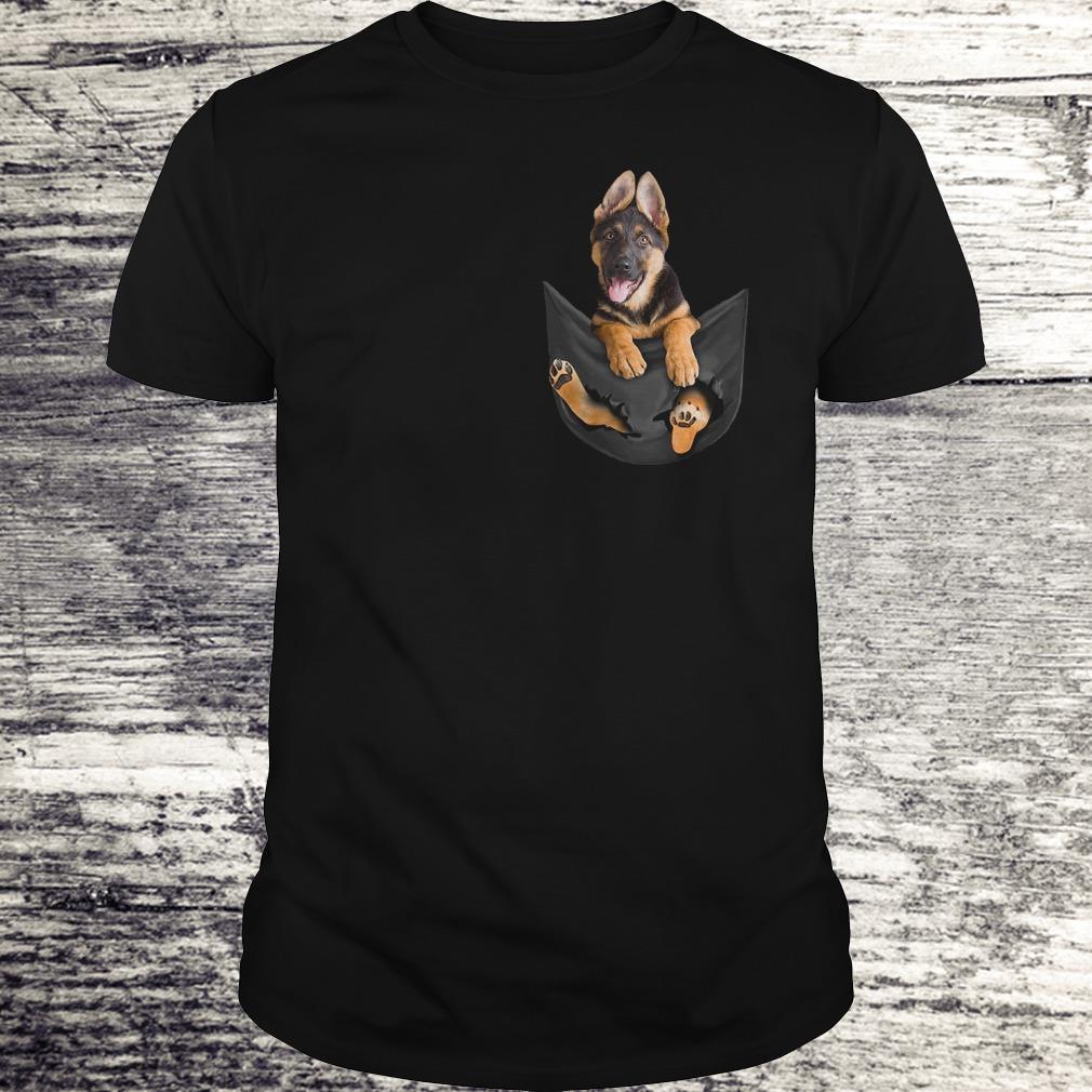 Awesome German Shepherd Tiny Pocket shirt Classic Guys / Unisex Tee