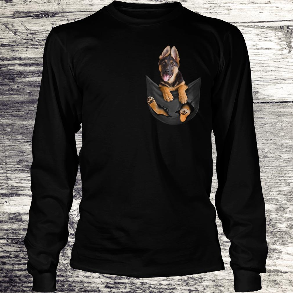 Awesome German Shepherd Tiny Pocket shirt Longsleeve Tee Unisex