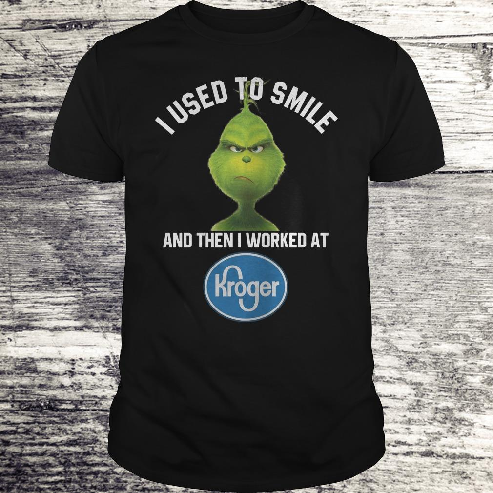 Awesome Grinch I Used To Smile And Then I Worked At Kroger Shirt Sweater Classic Guys Unisex Tee.jpg