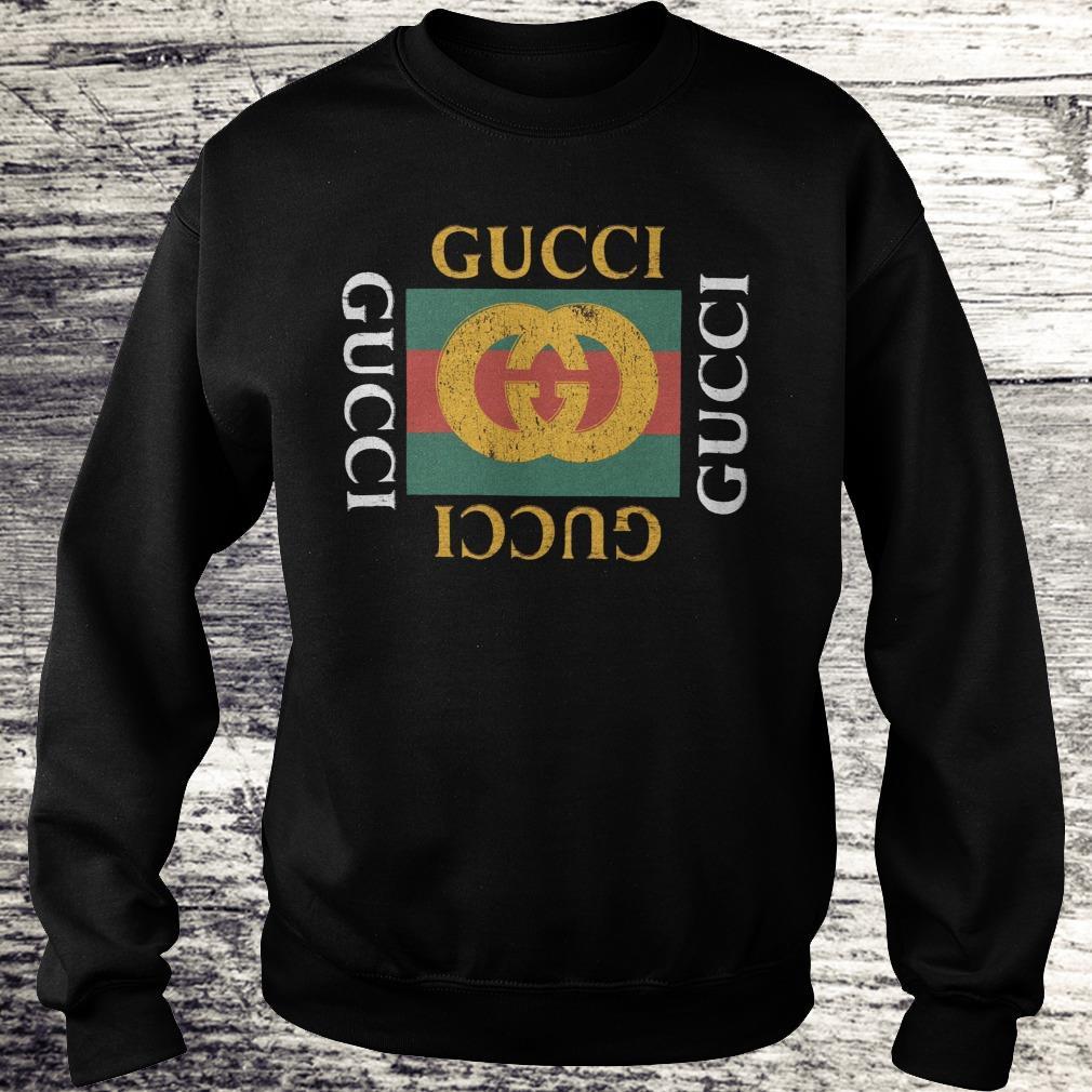 Awesome Gucci logo printed shirt Sweatshirt Unisex