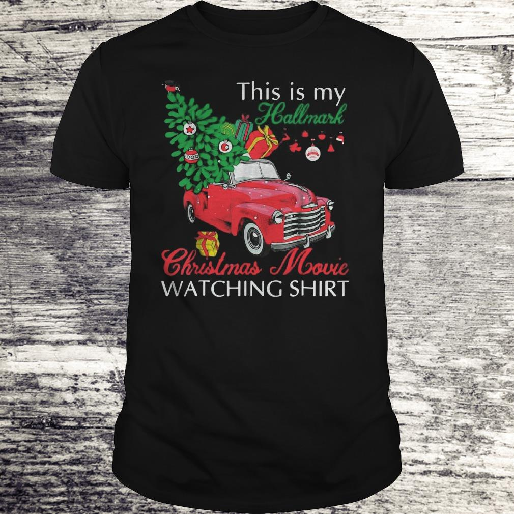 Awesome Red truck This is my Hallmark Christmas Movie Watching shirt sweater Classic Guys / Unisex Tee
