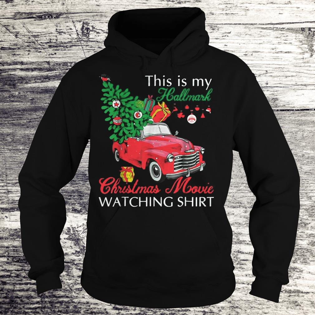 Awesome Red truck This is my Hallmark Christmas Movie Watching shirt sweater Hoodie