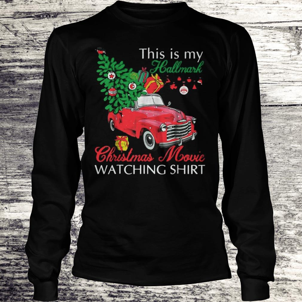 Awesome Red truck This is my Hallmark Christmas Movie Watching shirt sweater Longsleeve Tee Unisex