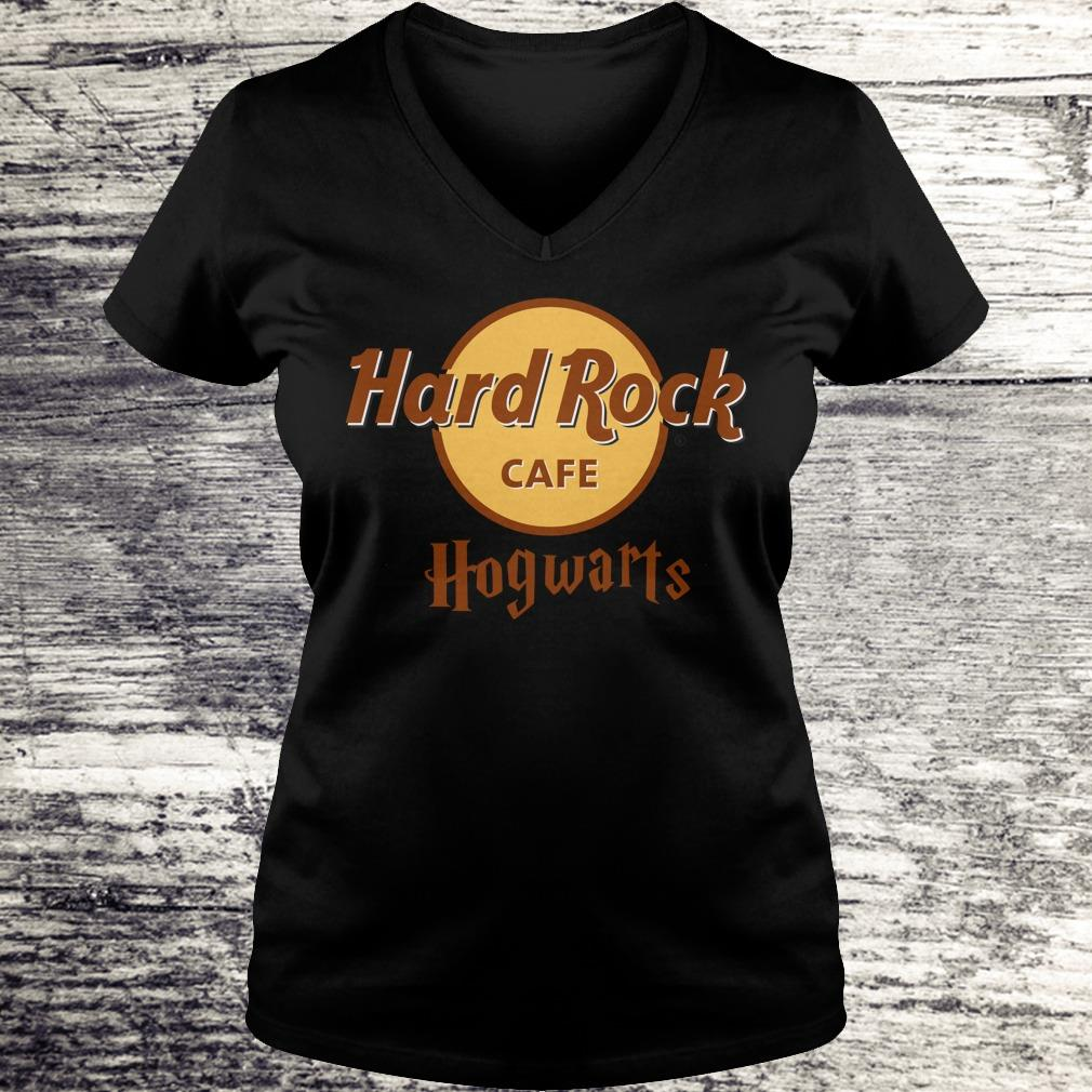 Best price Harry Potter hard Rock cafe Hogwarts shirt Ladies V-Neck