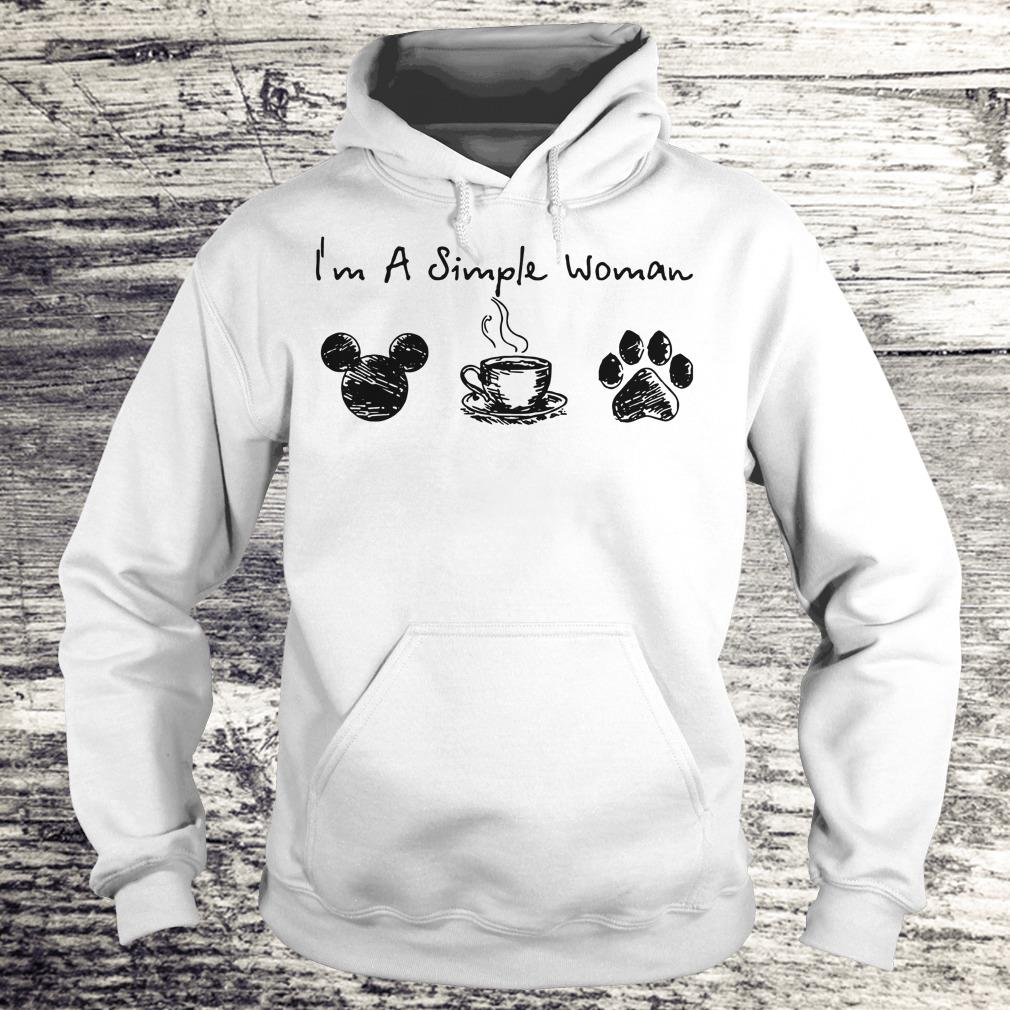 Best price I'm a simple woman I like Mickey Minnie Mouse Coffee and Dog shirt