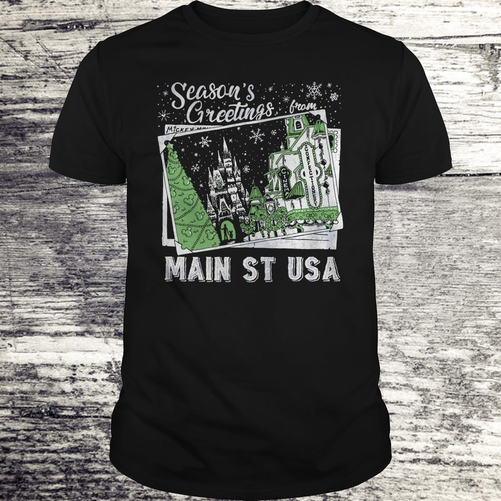 Best price Picture Main St USA Season's Greetings from shirt Classic Guys / Unisex Tee
