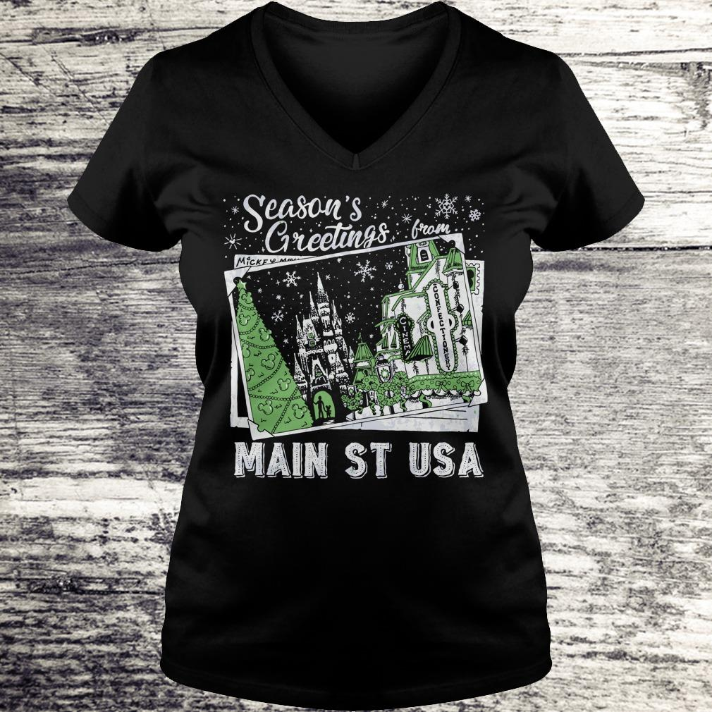 Best price Picture Main St USA Season's Greetings from shirt Ladies V-Neck