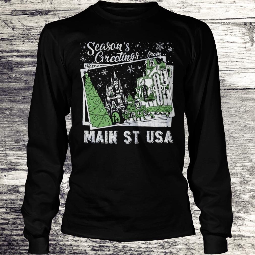 Best price Picture Main St USA Season's Greetings from shirt Longsleeve Tee Unisex