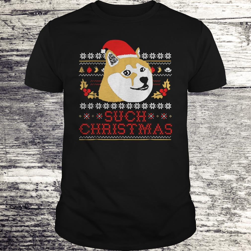 Best price Shiba Inu Such Christmas Sweater shirt Classic Guys / Unisex Tee