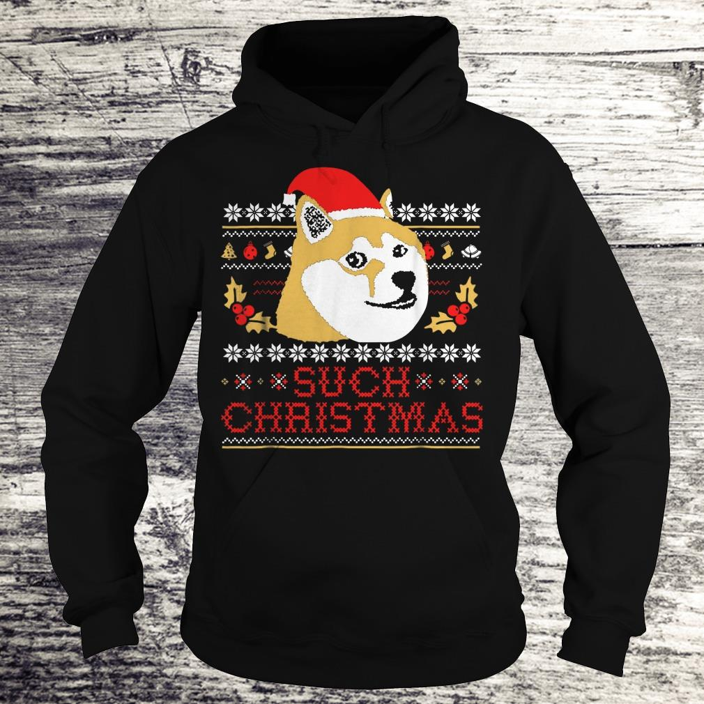 Best price Shiba Inu Such Christmas Sweater shirt Hoodie