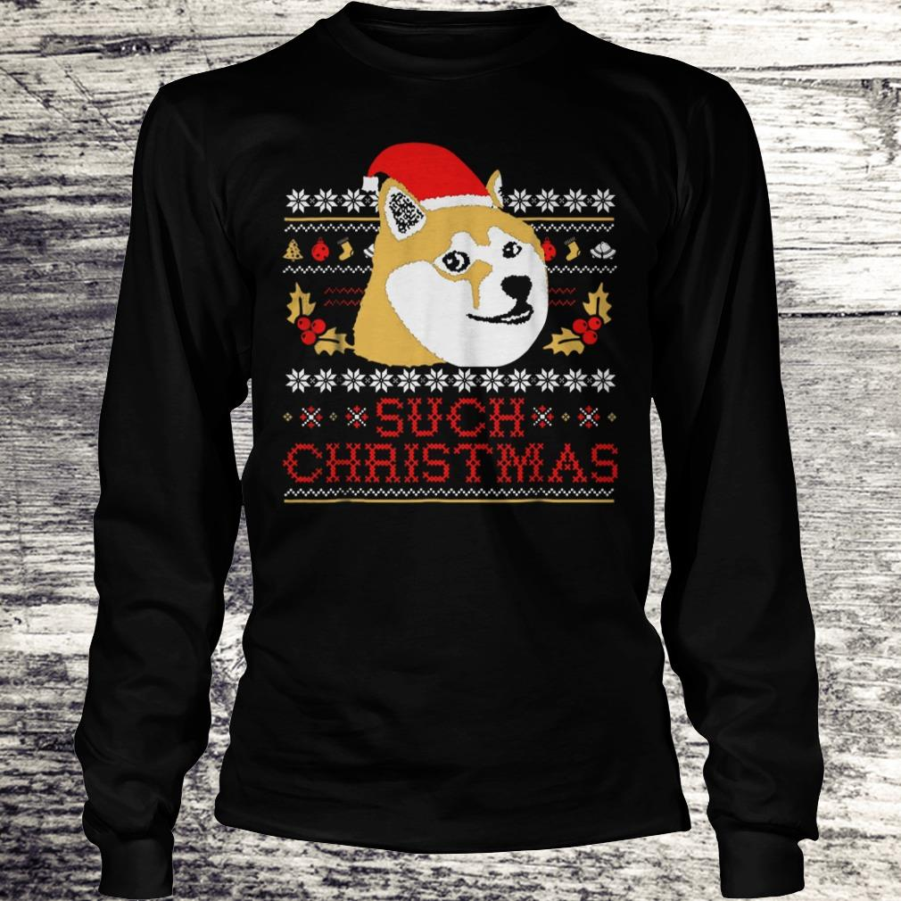 Best price Shiba Inu Such Christmas Sweater shirt Longsleeve Tee Unisex