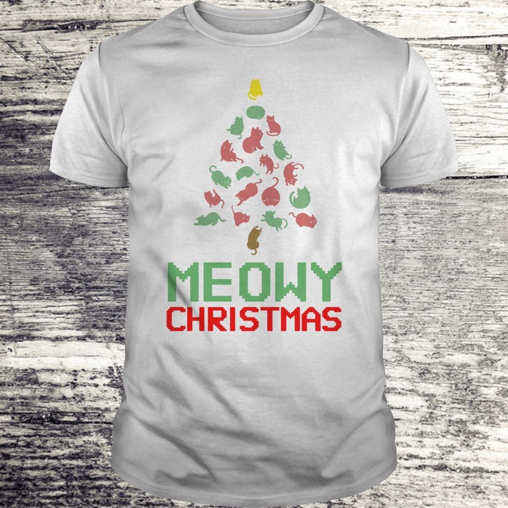 Funny Meowy Christmas Tree shirt Classic Guys / Unisex Tee