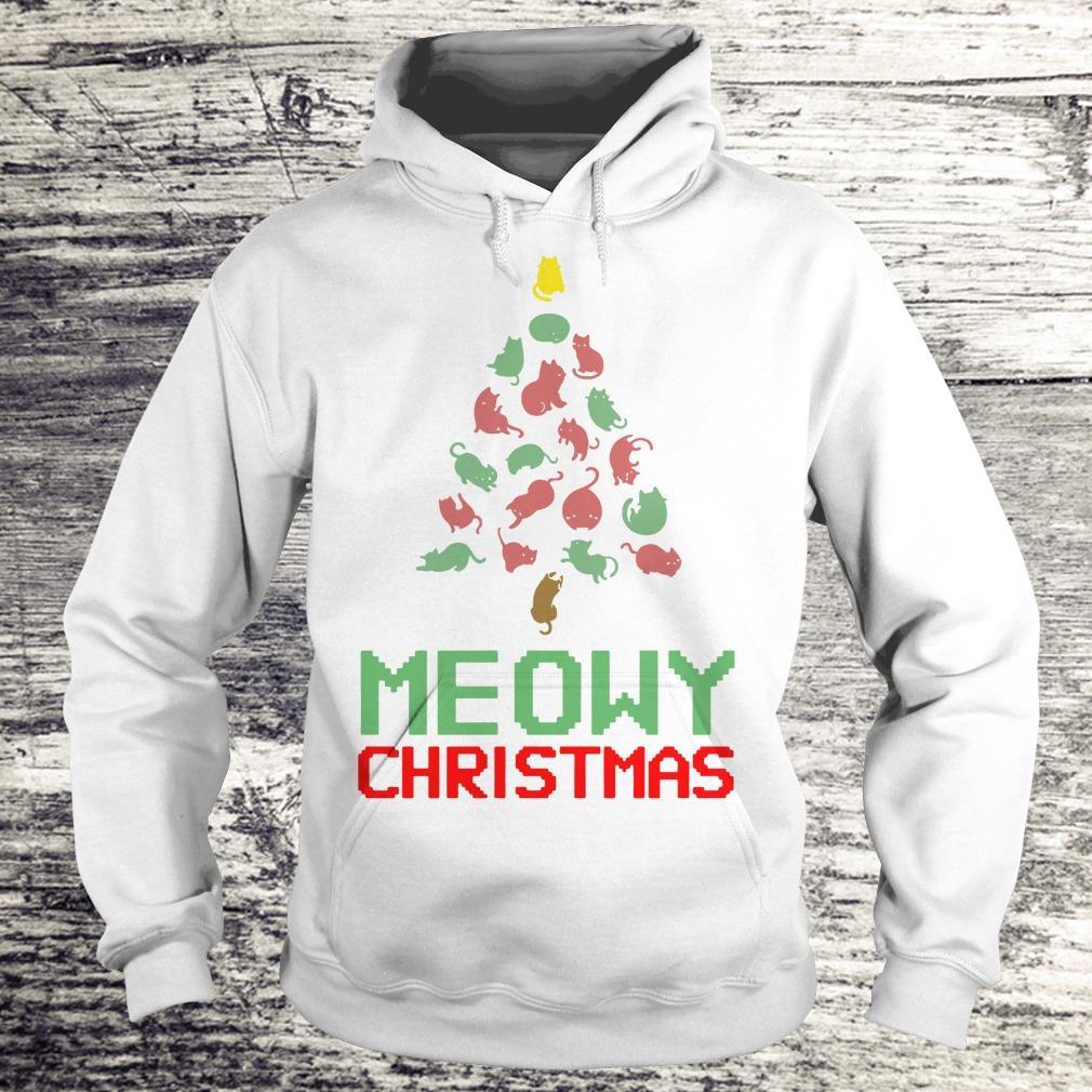Funny Meowy Christmas Tree shirt Hoodie