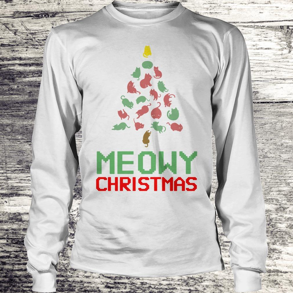 Funny Meowy Christmas Tree shirt Longsleeve Tee Unisex