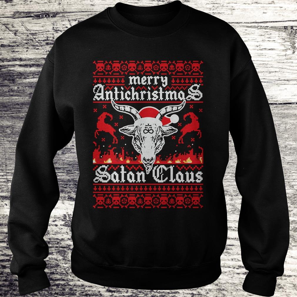 Hot Merry Antichristmas Satan Claus Ugly Christmas Sweater Sweatshirt Unisex