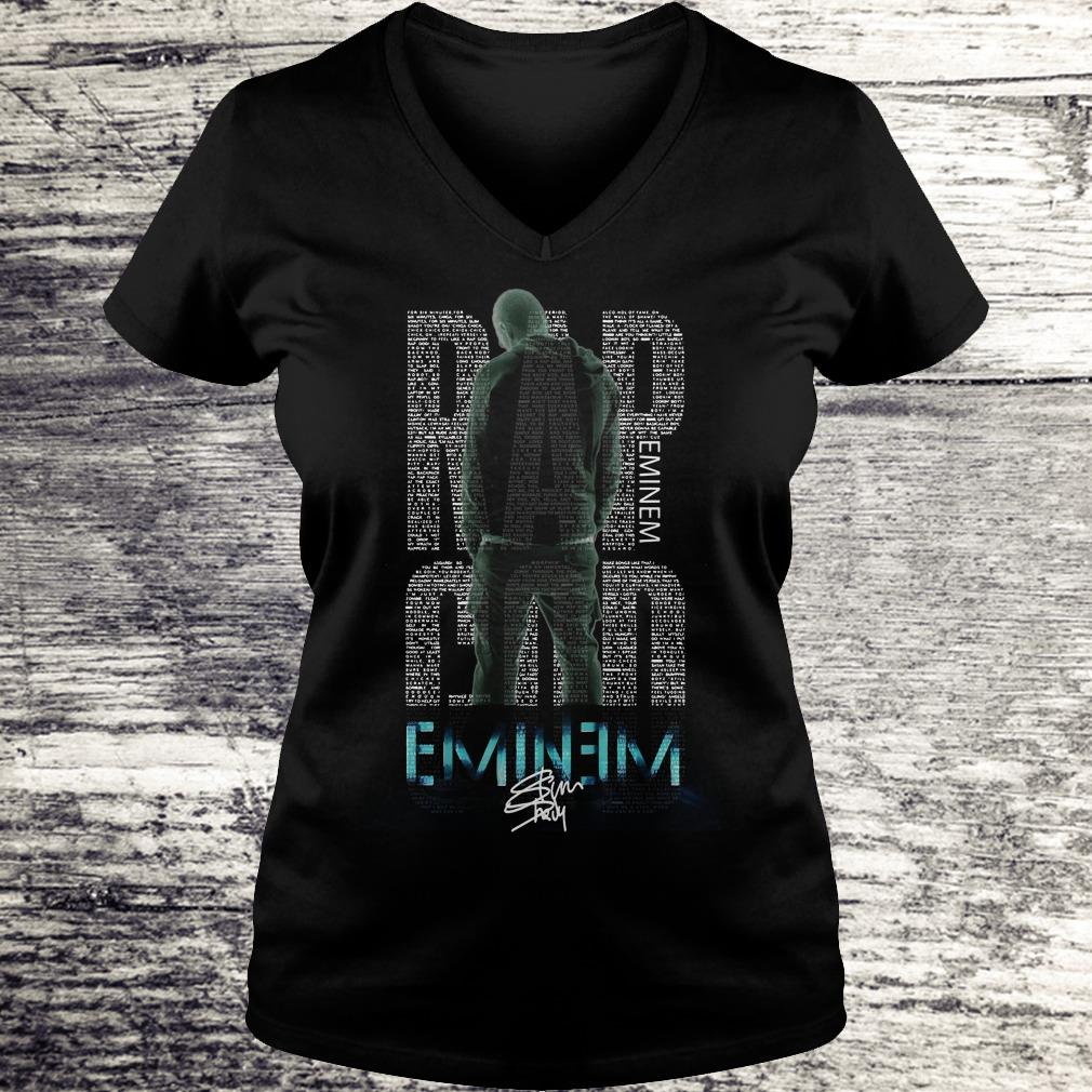 Hot Rap God Eminem shirt Ladies V-Neck