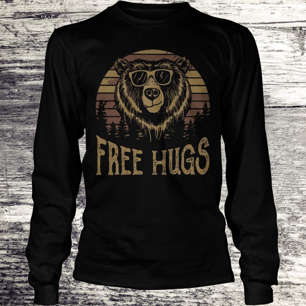 Nice Free hugs sunset bear shirt Longsleeve Tee Unisex