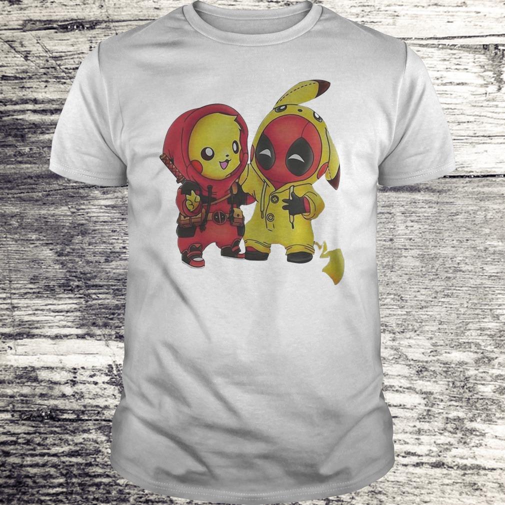Nice Pokemon Pikachu And Deadpool Shirt Classic Guys Unisex Tee.jpg