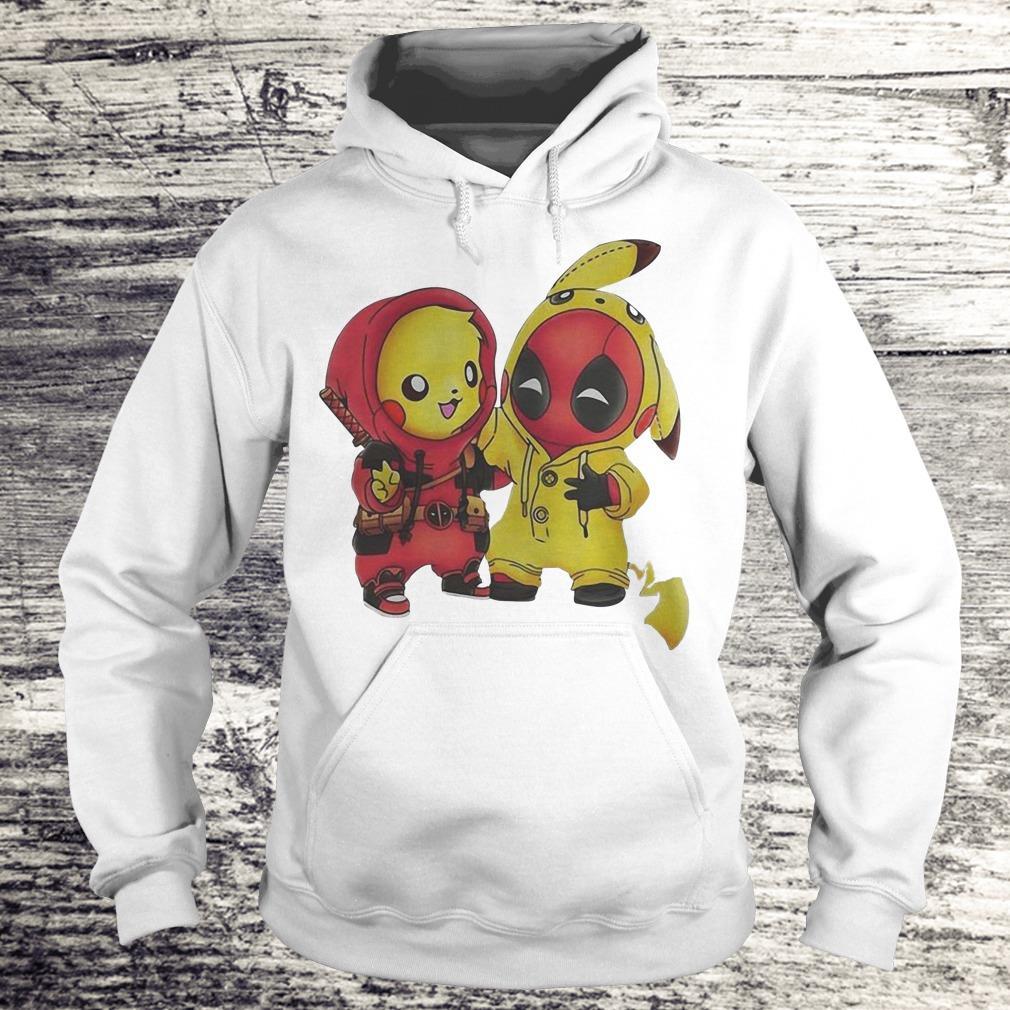 Nice Pokemon Pikachu and Deadpool shirt Hoodie