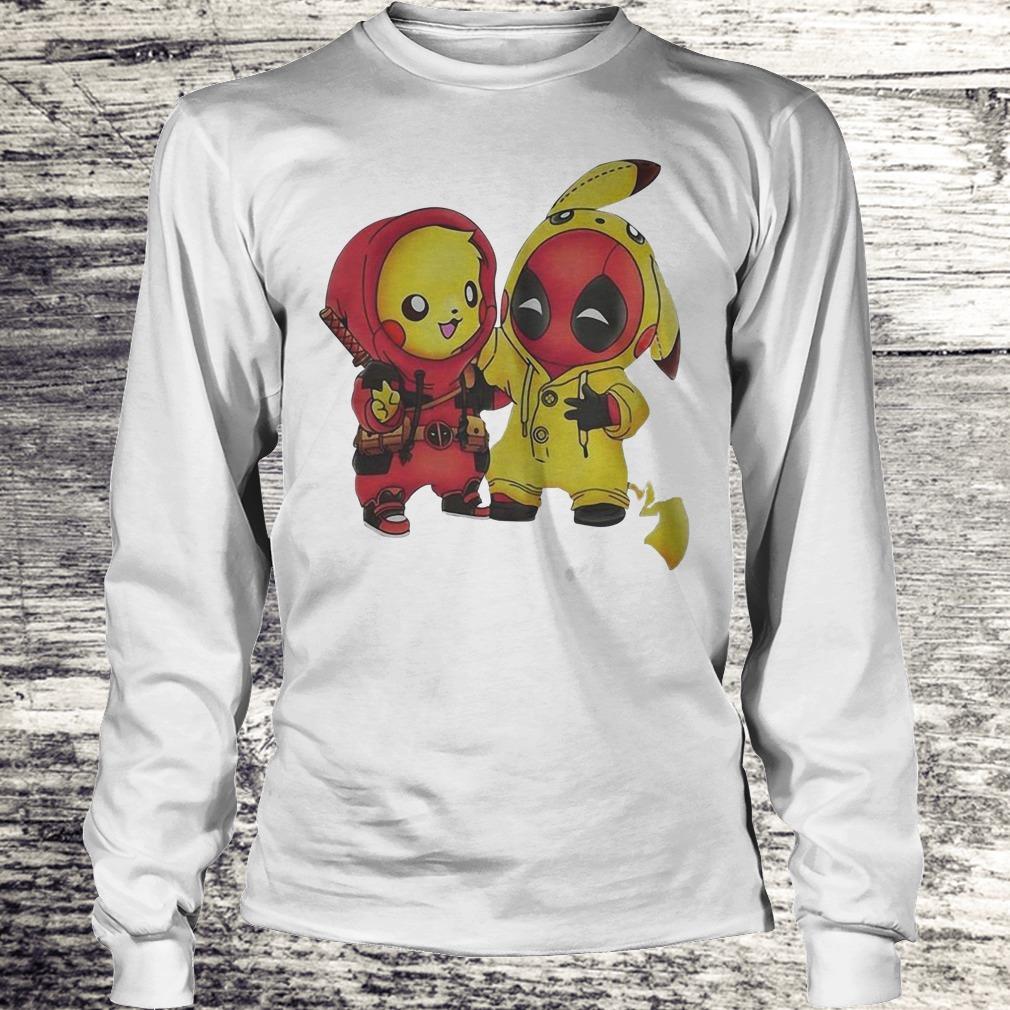 Nice Pokemon Pikachu and Deadpool shirt Longsleeve Tee Unisex
