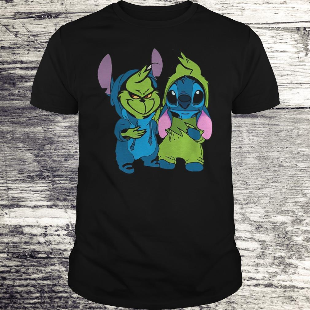 Nice Stitch and Grinch shirt Classic Guys / Unisex Tee