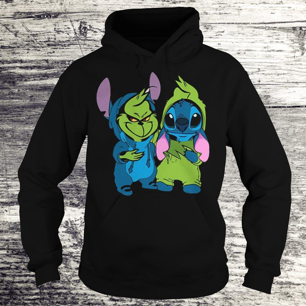 Nice Stitch and Grinch shirt Hoodie