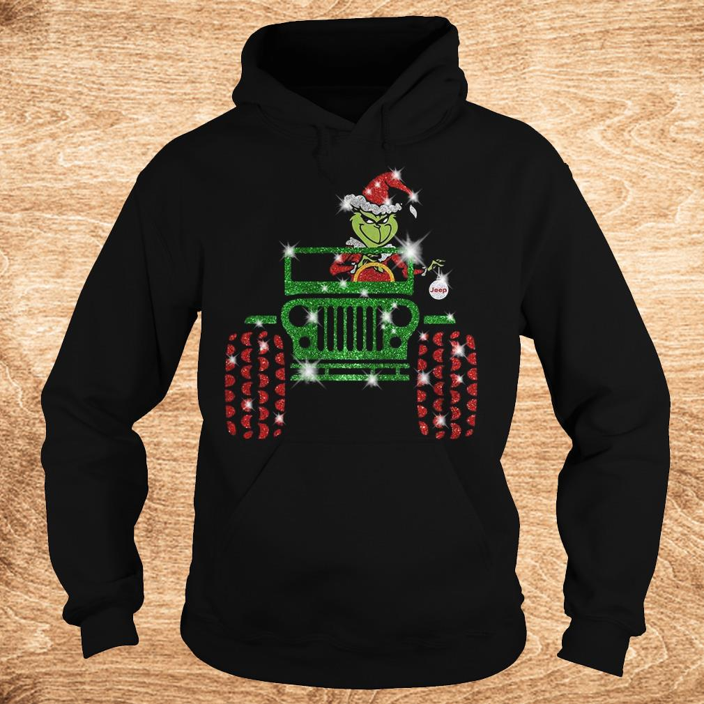 Official Grinch Jeep sparkly glitter shirt Hoodie