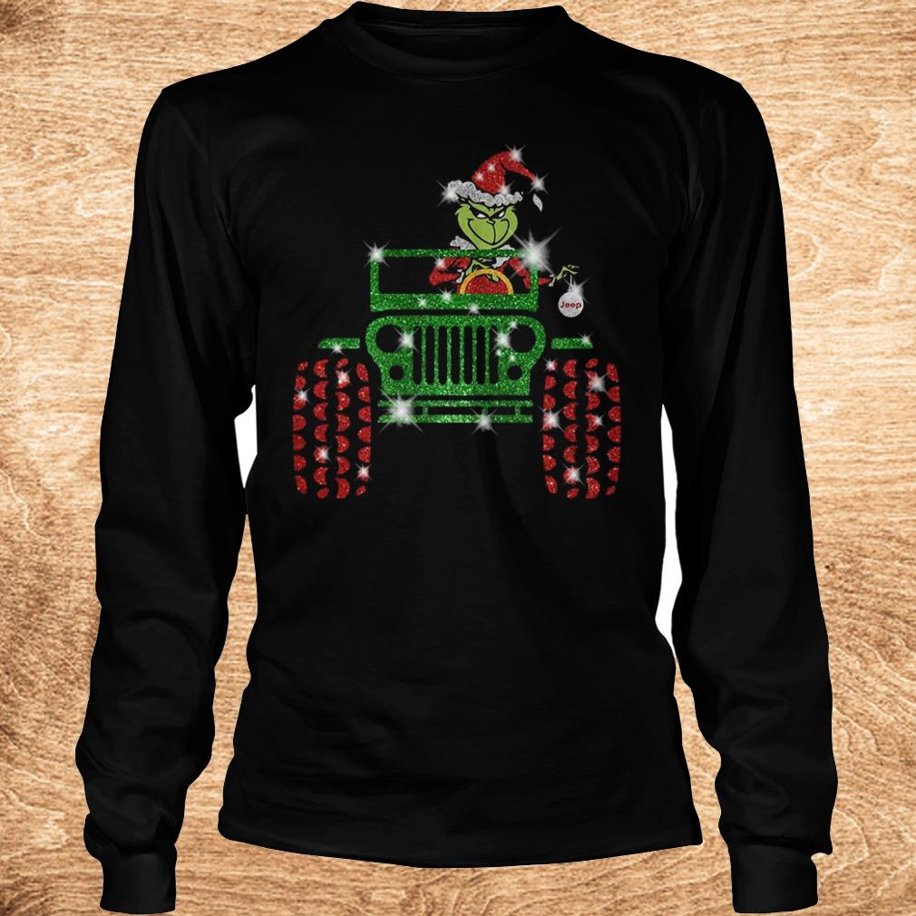 Official Grinch Jeep sparkly glitter shirt Longsleeve Tee Unisex
