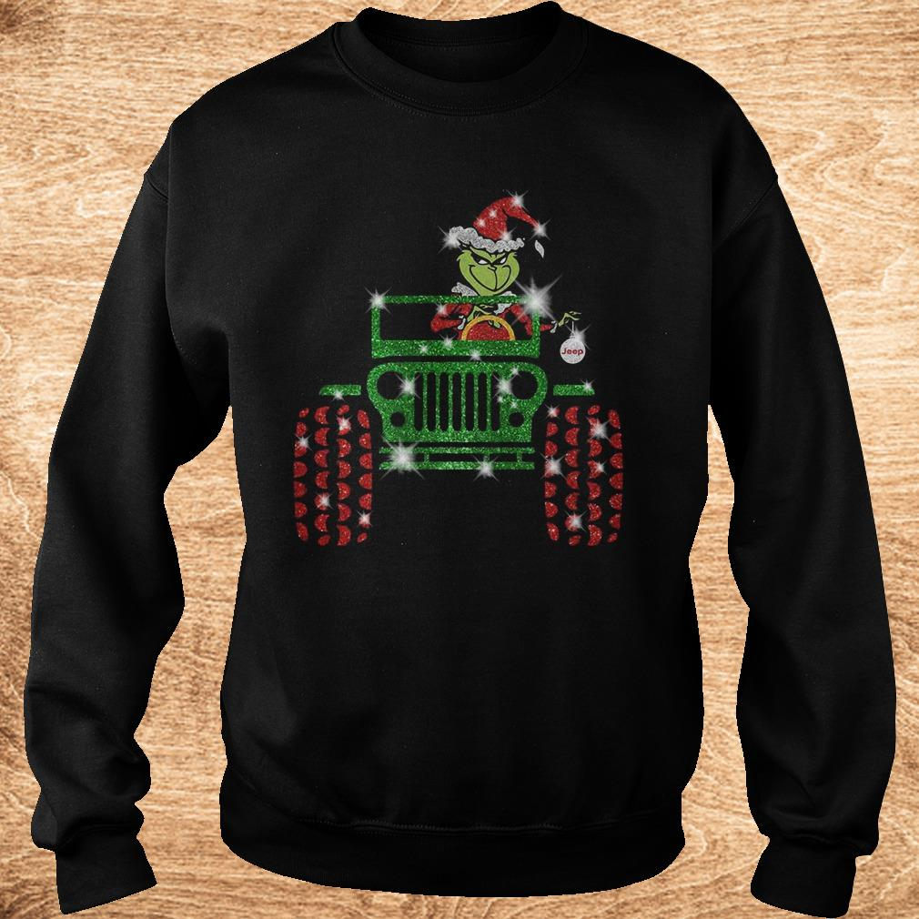 Official Grinch Jeep sparkly glitter shirt Sweatshirt Unisex