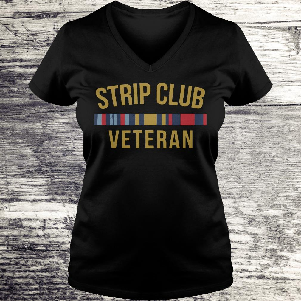 Official Military Strip club veteran shirt Ladies V-Neck