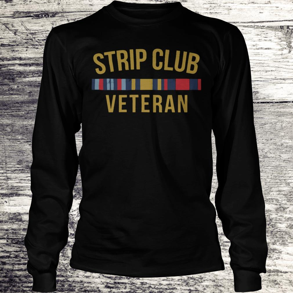 Official Military Strip club veteran shirt Longsleeve Tee Unisex